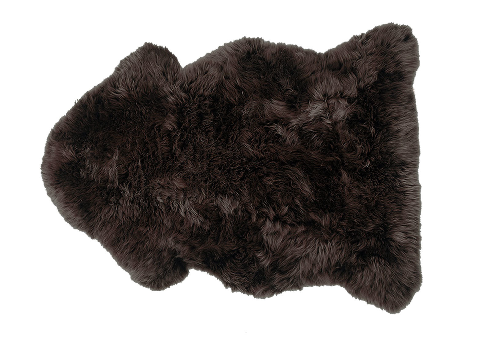 Walnut Dark Brown with Taupe Tips Sheepskin Fur Rug