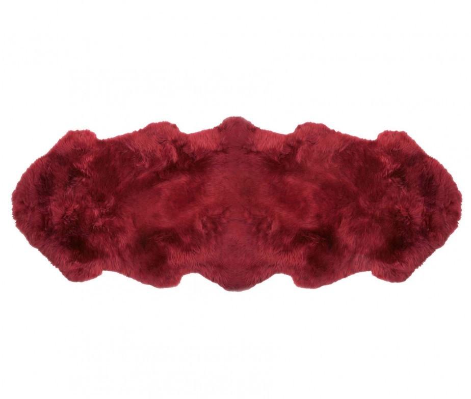 Sheepskin Rugs 2 Pelt Premium Auskin Raspberry Red