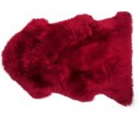 Flame Red Single Pelt Sheepskin Rug