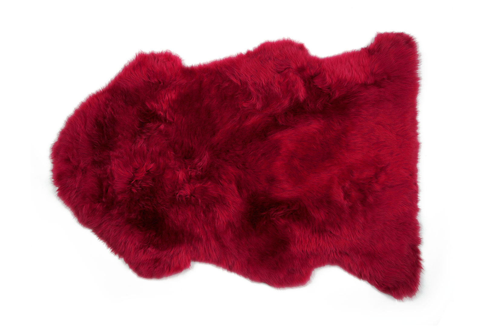 Flame Red Single Pelt Sheepskin Rug
