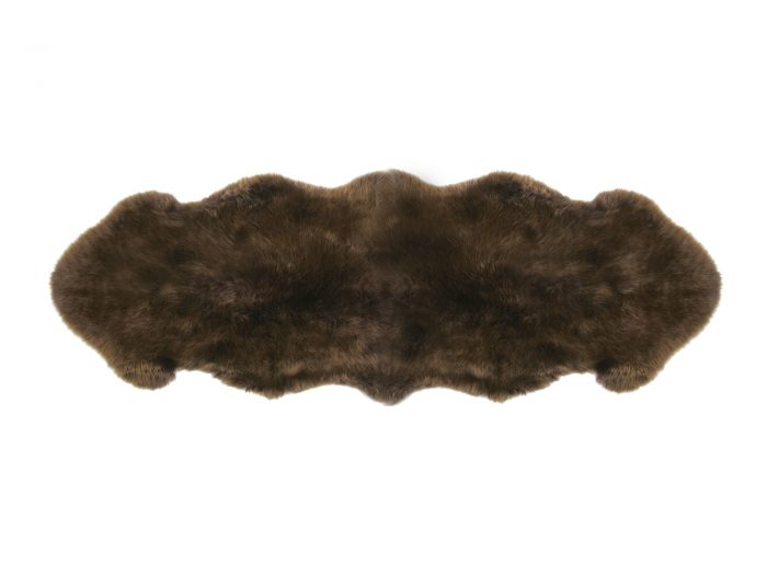 2 Pelt Sheepskin Brown Rug