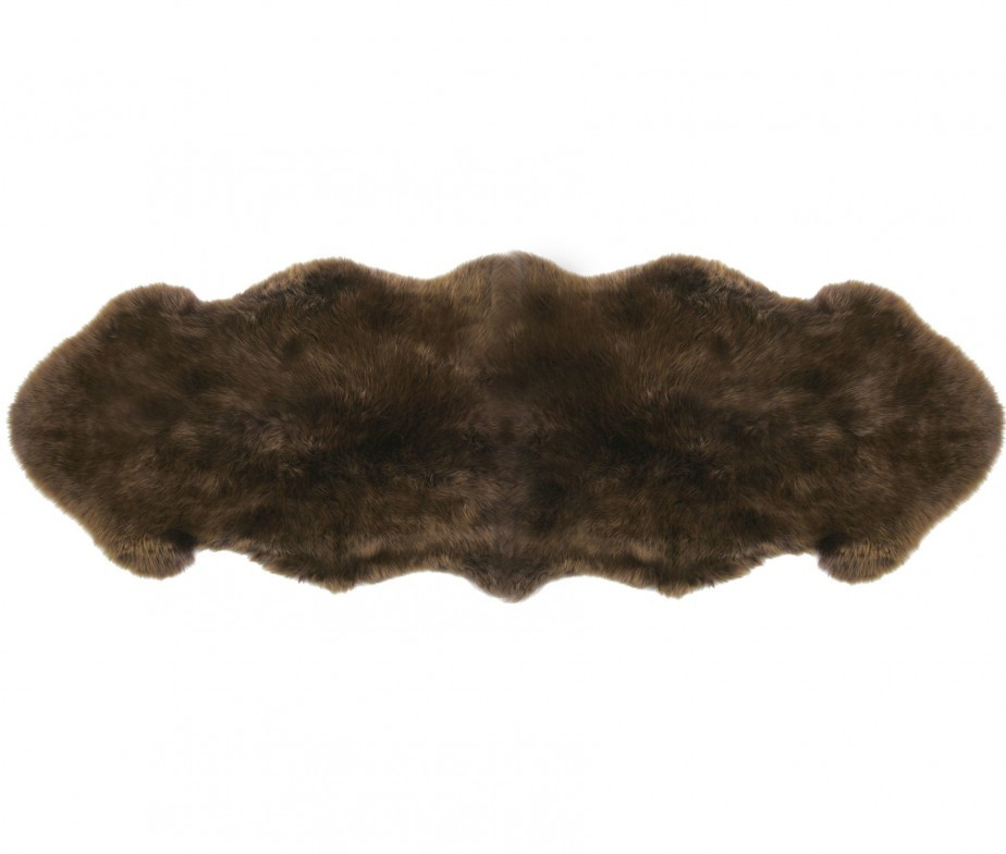 Sheepskin rugs 2 pelt premium auskin morchella brown for Sheep skin rug