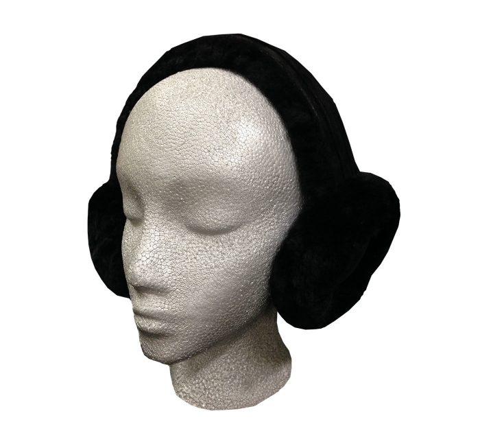 Sheepskin Ear Muffs Black