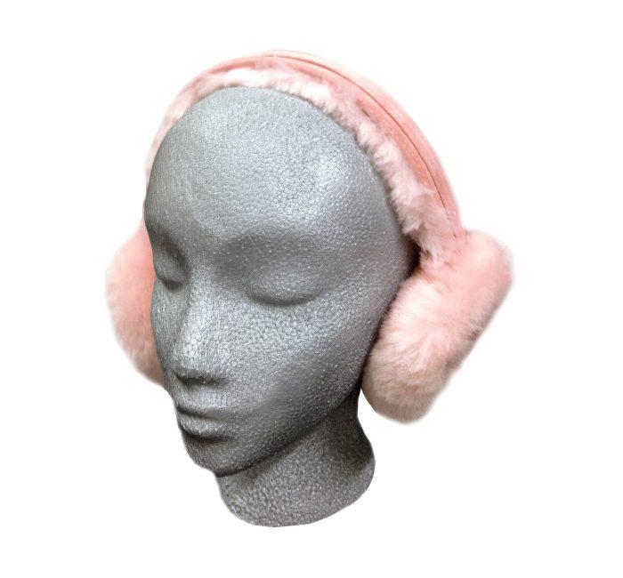 Sheepskin Ear Muffs Pink