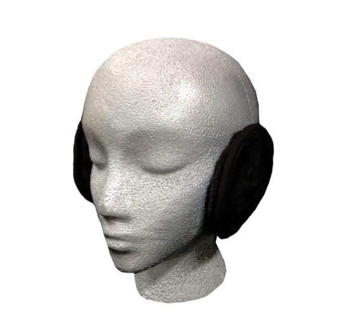 Sheepskin Ear Muff Wrap Black