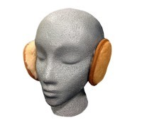 Sheepskin Earmuff Wrap Tan