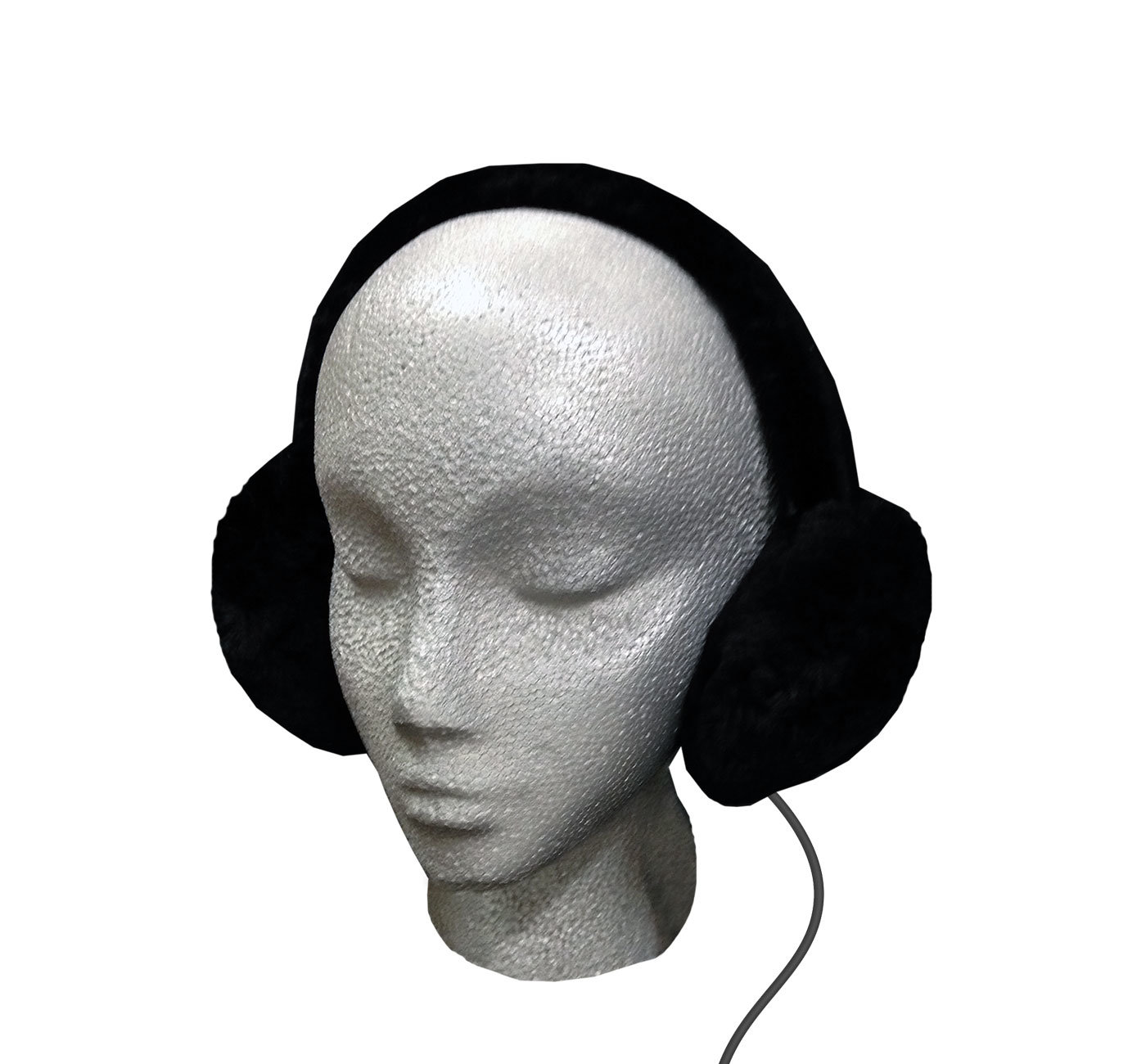 Sheepskin Ear Muff Headphones - Black