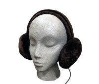 Sheepskin Headphones Audio Ear Muffs - Brown