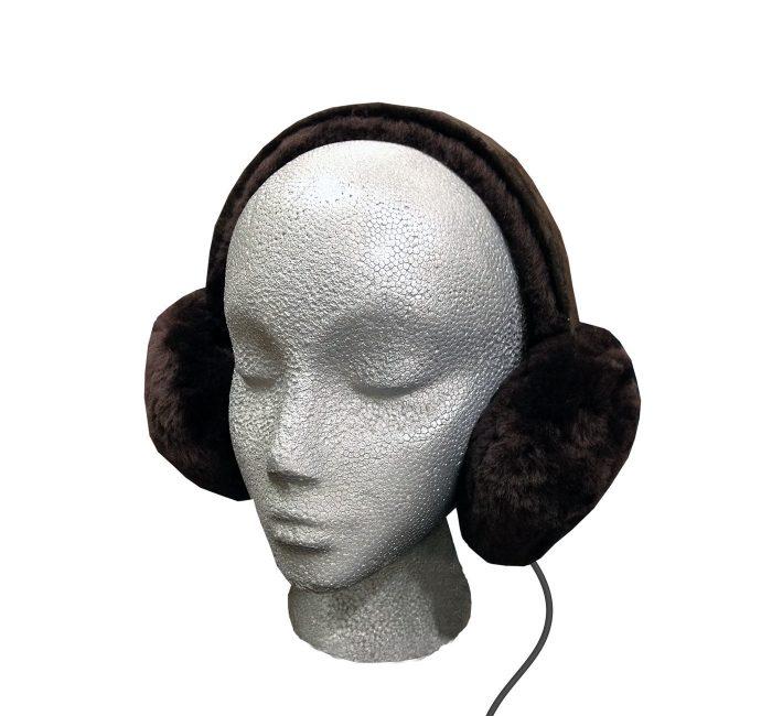 Sheepskin Headphones Audio Ear Muffs - Brown