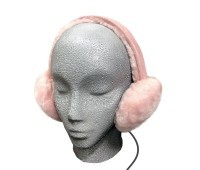 Sheepskin Ear Muff Headphones - Pink