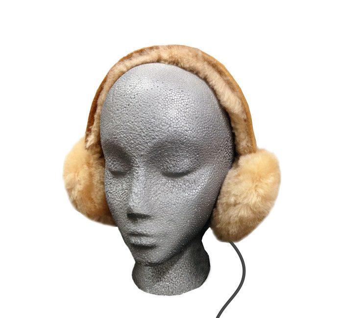 Sheepskin Ear Muff Headphones - Tan