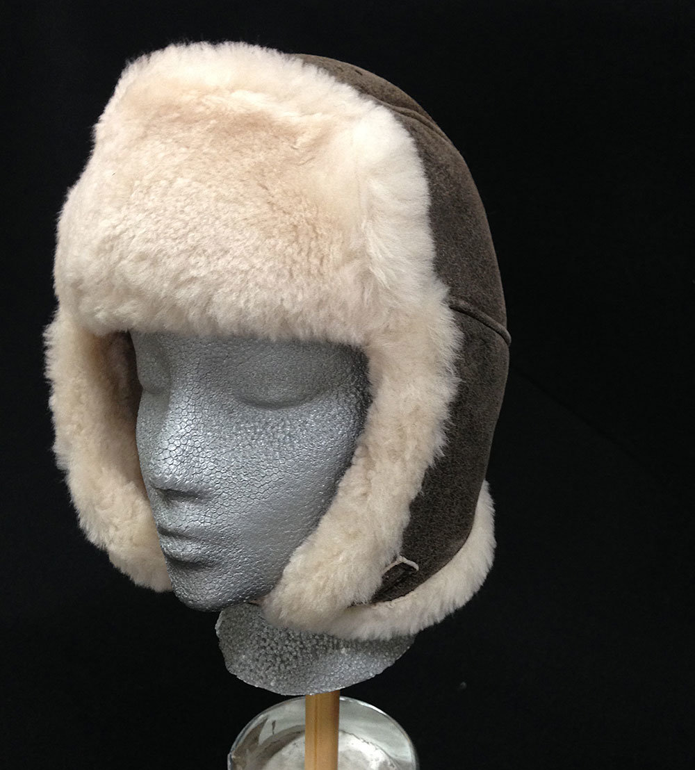 Sheepskin Trouper Hat Brown