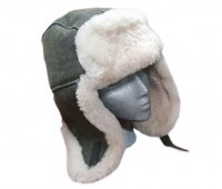 Sheepskin Trouper Hat Brown Winter Hat