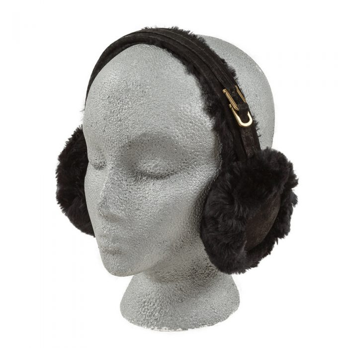 Black Sheepskin Earmuffs