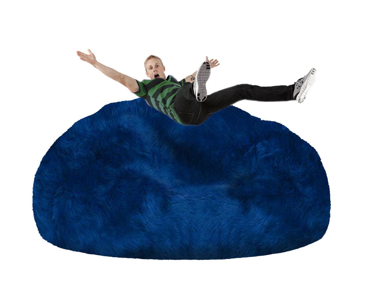 Blue Giant Bean Bag Chair - FIBRE By AUSKIN Giant Sheepskin Bean Bag Chair – Ultimate Sheepskin