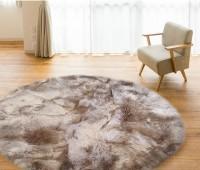 Round Sheepskin Rug