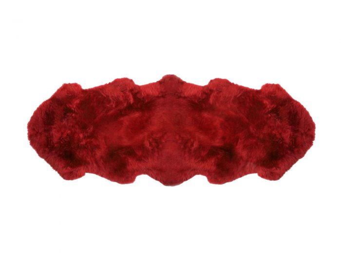 Red Sheepskin Fur Area Rug