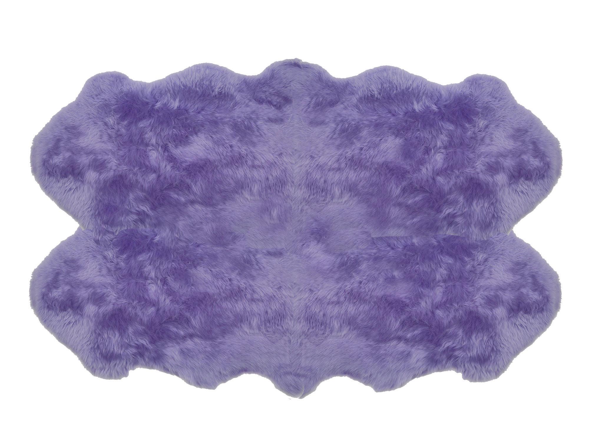 Purple Sheepskin Rug