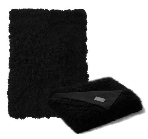 Tibetan Lambskin Throw Black