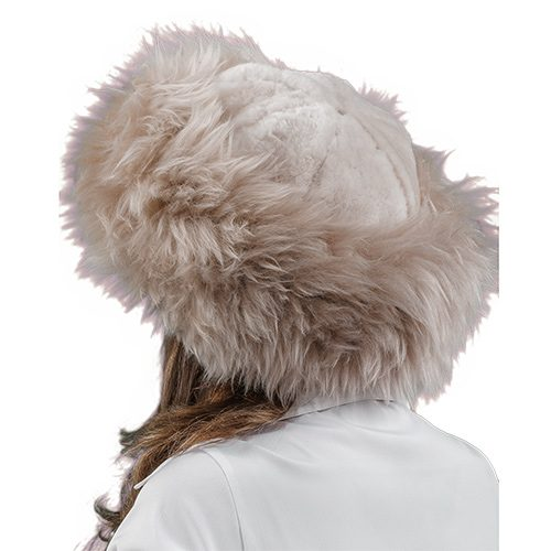 Shangri La Women's Sheepskin Fur Hat