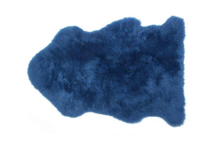 Sapphire Blue Sheepskin Rug