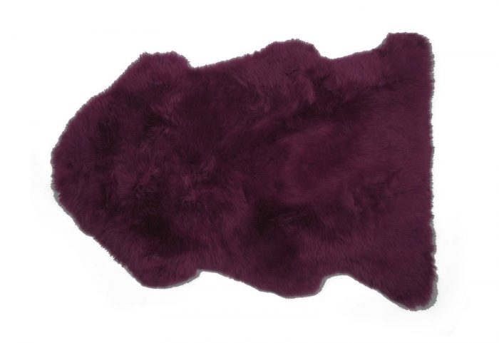 Velvet Purple Sheepskin Pelt