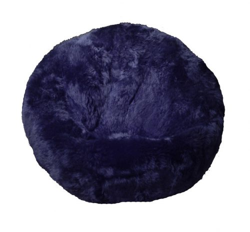 Sheepskin Bean Bag Chair Dark Navy